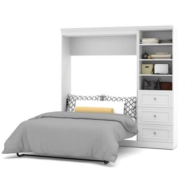 the kit comprises the full wall bed and a storage unit with set most full size