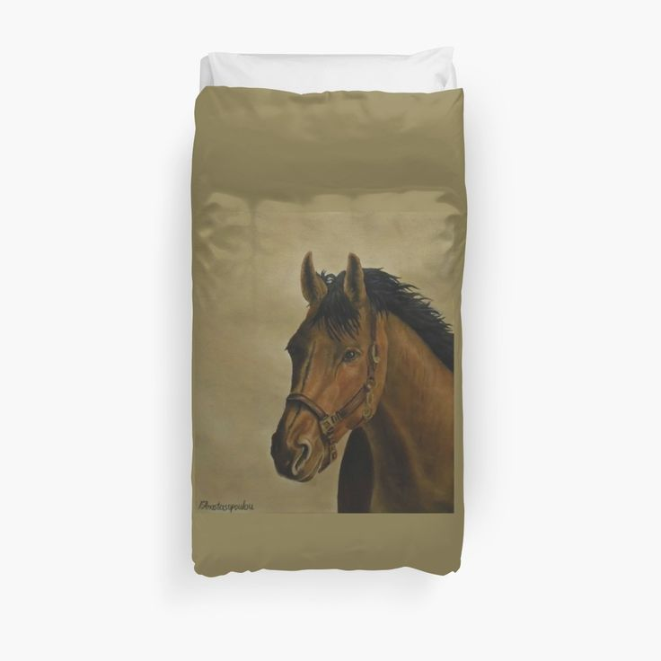 Duvet Cover, bed decor, for sale, home,accessories,bedroom,decor,cool,unique,fancy,artistic,trendy,unusual,awesome,beautiful,modern,fashionable,design,items,products,ideas,brown,earthly colors, horse, portrait, equine, equestrian, wild, animal, wildlife, redbubble