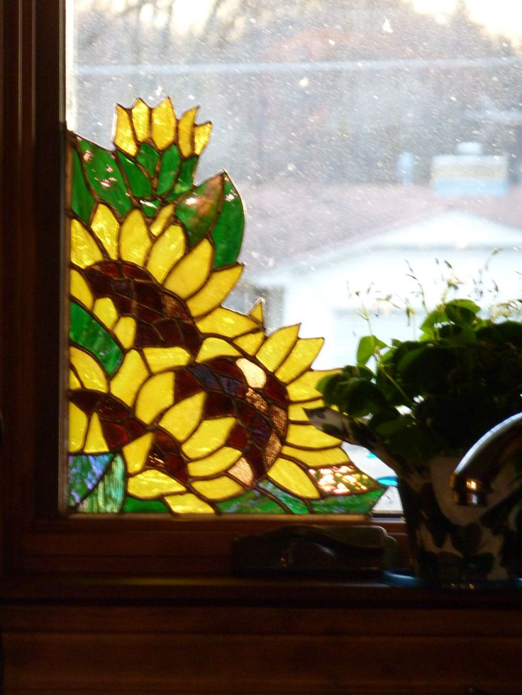 Love this!   I love stained glass but hate that it detracts from the view...this is perfect.