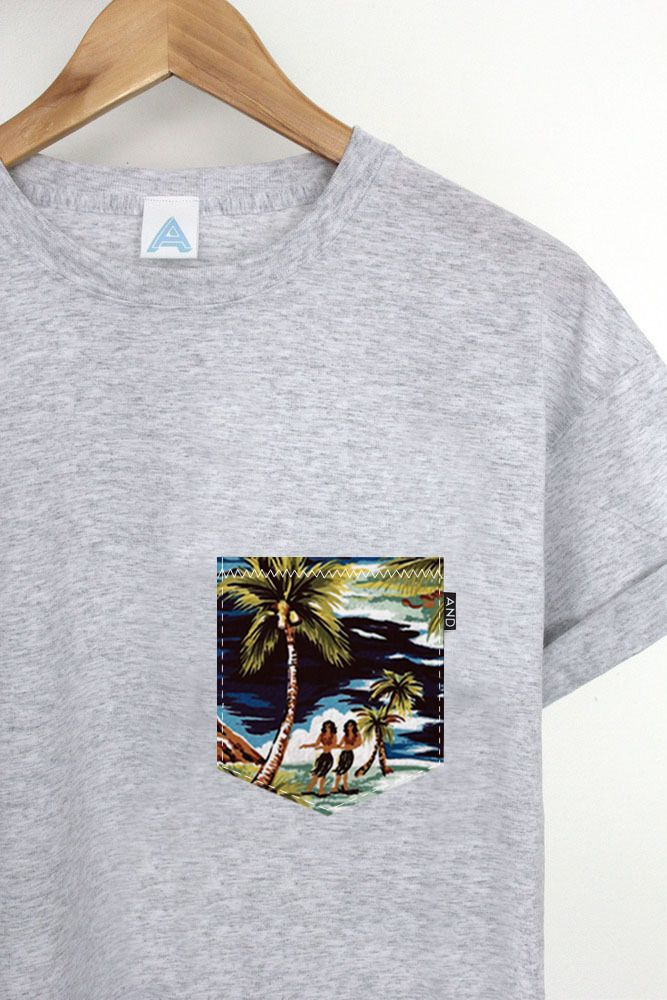 Image of AND Hawaiian Pocket Tee I COULD MAKE THIS