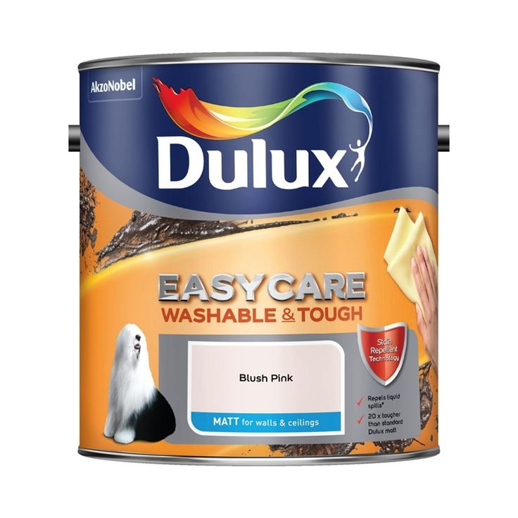 Find Dulux Easycare Blush Pink - Matt - 2.5L at Homebase. Visit your local store for the widest range of paint & decorating products.