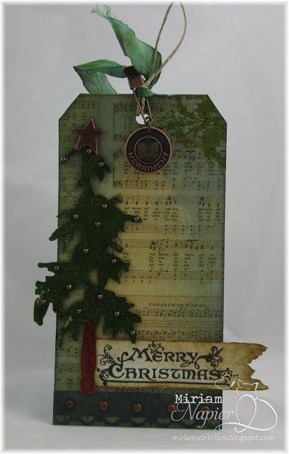 tim holtz christmas tags | Miriam's Delirium: Tim Holtz Christmas Tag - Simon Says Stamp and Show