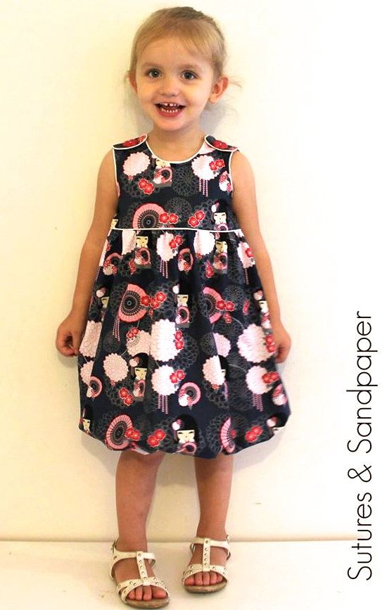Wattle Brush Dress PDF Pattern Bubble Dress par Freshstitchpatterns