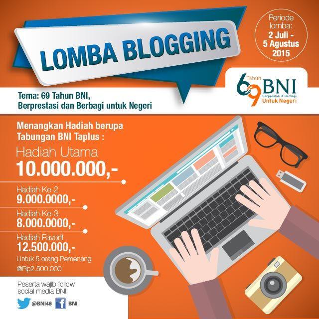 Lomba Blog BNI: Berhadiah Tabungan BNI Taplus total 39 Juta!