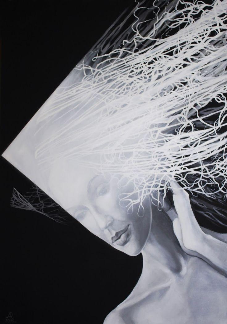Ona nie pamięta - olej na płótnie  100 x 70 cm Image
