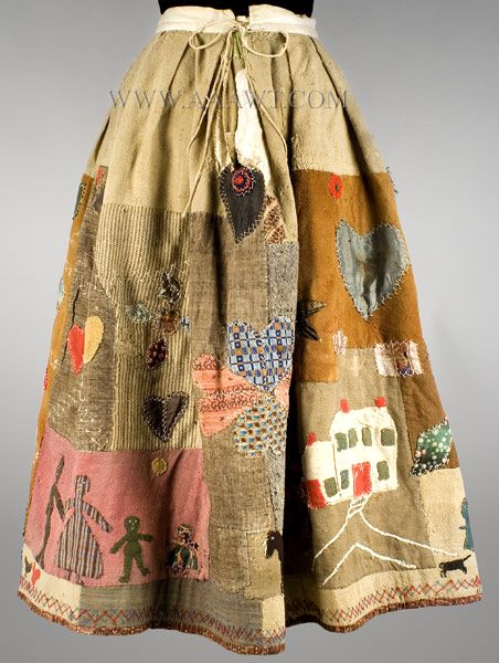 Antique Textiles  Applique Story Skirt In the manner of Harriet Powers