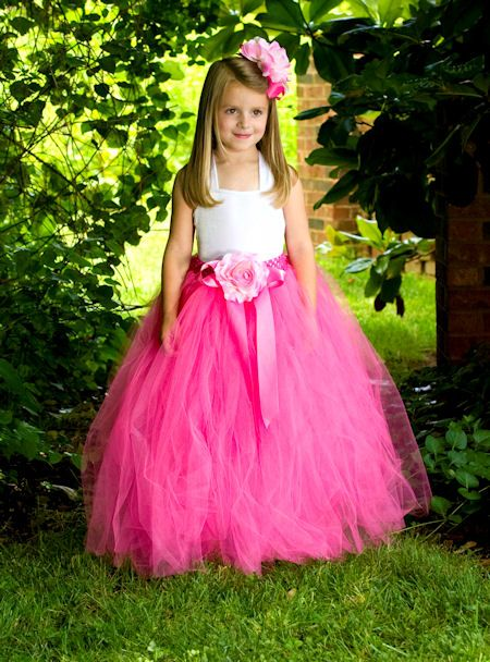 Alexandra Silk Rose Couture Tea Length Girls Tutu Skirt - 2000