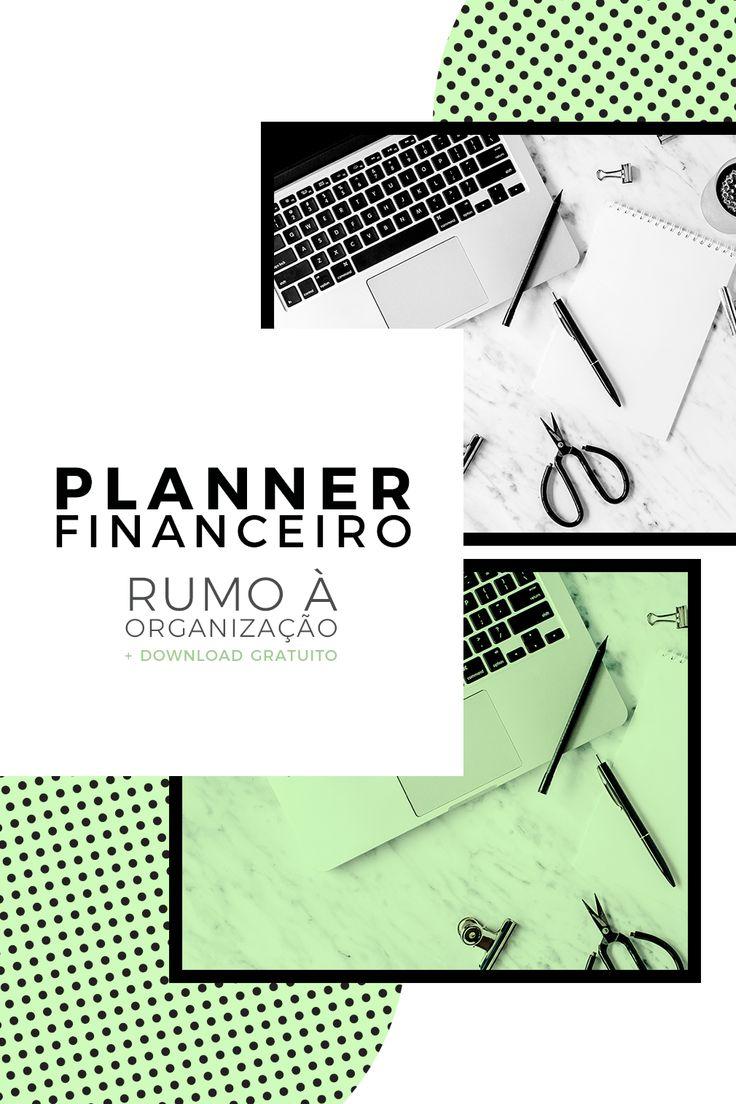 Planner financeiro: rumo á organização / Download gratuito de planner financeiro / Organização financeira