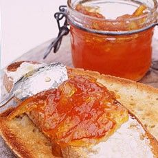 Traditional Seville Orange Marmalade:-  You can find some very good shop-bought marmalade now, but it's still never ever like home-made. The intensely sharp, bitter Seville oranges here hold their own, conquering the sweetness of the sugar; that fresh, intensely orange fragrance and flavour is unmatched in any preserve anywhere in the world.