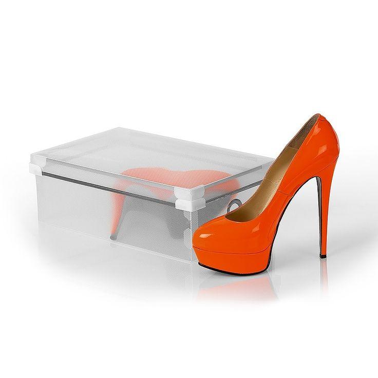 Коробка для хранения обуви с крышкой Shoebox