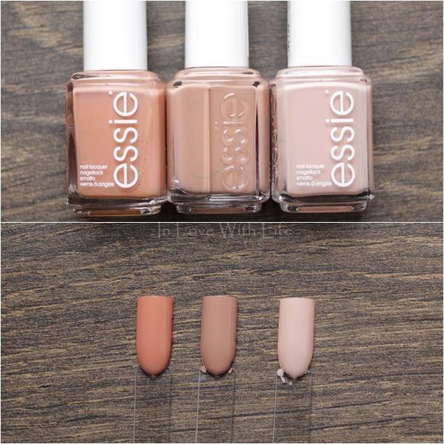 Essie: Mamba // Essie: Perfekt ausgewählt // Essie: Dreh die Flasche – Nagellack || Kosmetik