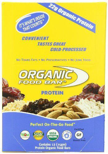 Organic Food Bar, Protein, 75 Gram Bars,  (Pack of 12) - http://goodvibeorganics.com/organic-food-bar-protein-75-gram-bars-pack-of-12/