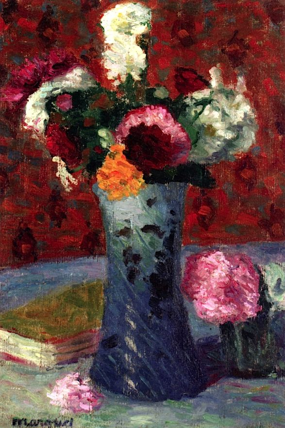 Bouquet in a Blue Vase.  Albert Marquet