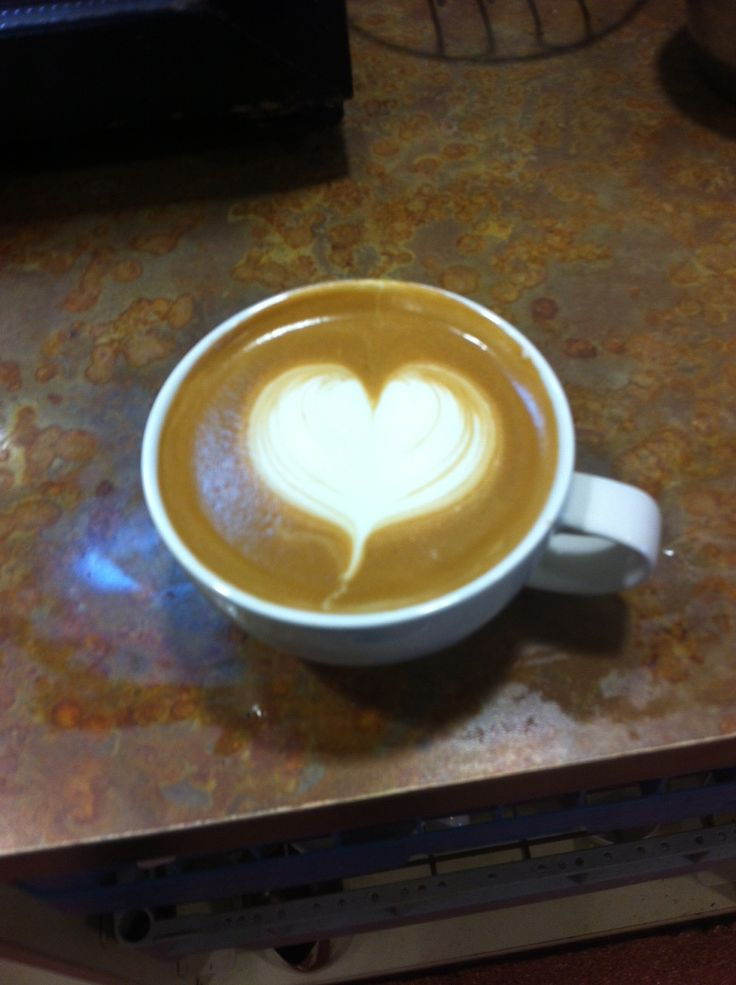 Heart-shaped latte art from the barista team at Leicester Rowena Garden Centre
