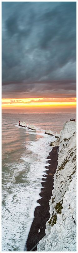 The Needles, Isle of Wight, England. Where the ocean swell begins.