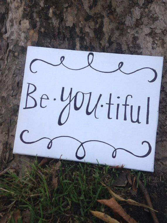 Inspirational Canvas Quote  BeYOUtiful Sign   by theDIYdivaa