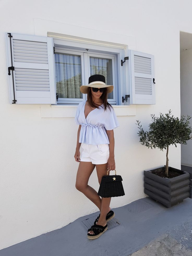 Complete Zara outfit. Perfect for Greek holidays!  Honeymoon in Santorini – Mademoiselle Agnes