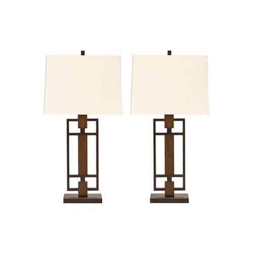 Great Omaris Bronze Finish Metal Table Lamp L406894   Set Of 2 Omaris Bronze  Finish Metal Table