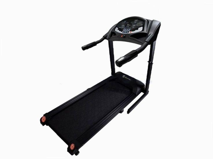 Bieżnia elektryczna Sportia 2006. Moc silnika: 1,25 KM (max 2,0 koni mechanicznych) Prędkość w zakresie:1 -:- 16 km/h Bezpośredni wybór prędkości:4 zakresy (4, 6, 8, 10 km/h) Ręczna regulacja prędkości:co 0,1 km/h Wyświetlacz: 4 okna LCD Wymiary pasa: 44 x 126 cm (pas antypoślizgowy). #biezniaelektryczna #sprzetdocwiczen #silownia