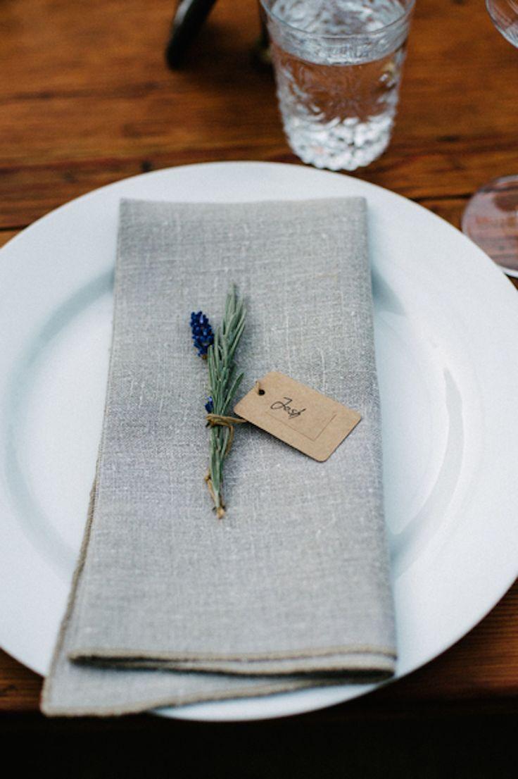 Guardanapos mesa de casamento rústica