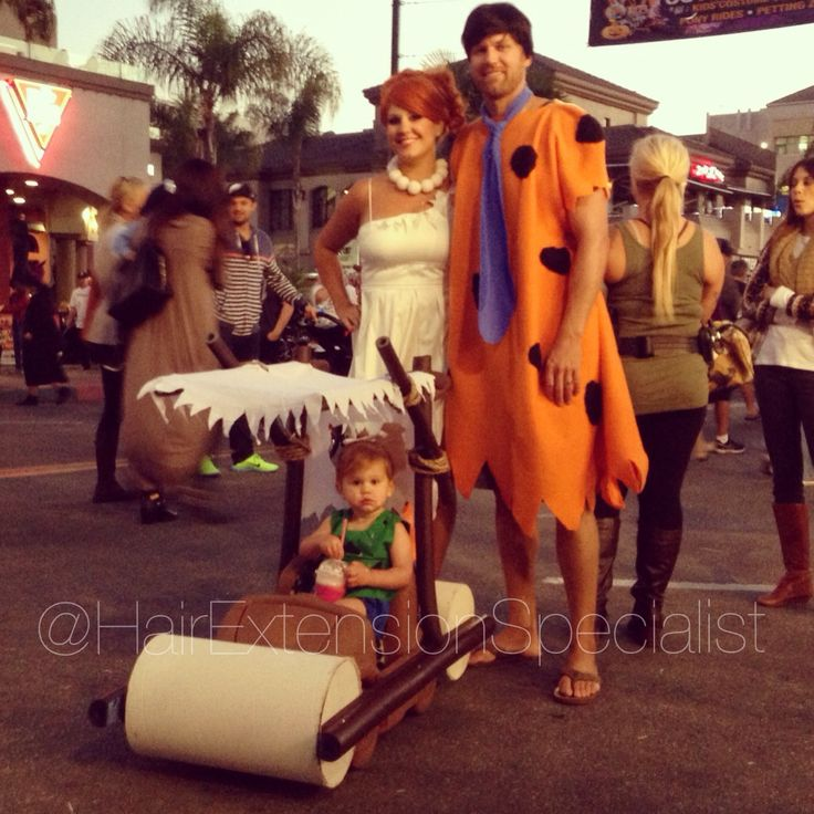 best flintstone costume ever by kristin instagram hairextensionspecialist pebbles wilma fred car halloween - Halloween Flintstones
