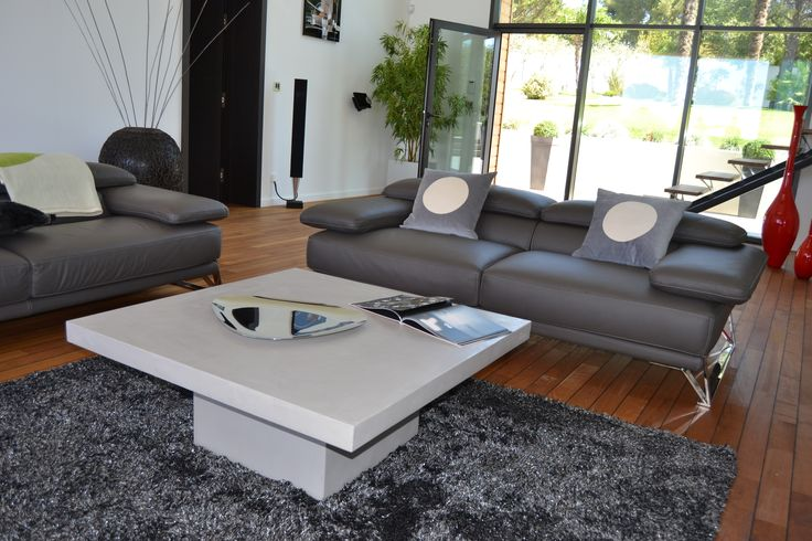 1000 ideias sobre table basse b ton cir no pinterest for Table beton cellulaire