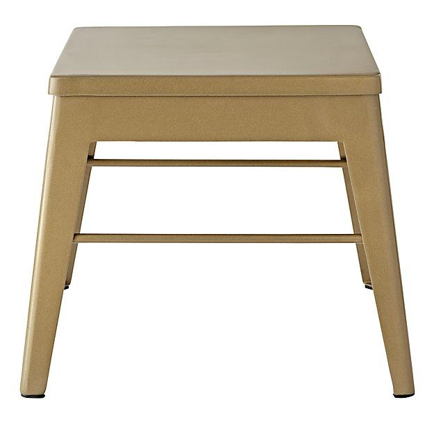 Shop Squared Up Gold Stool. This gold metal step stool is as versatile as it is easy to coordinate. Whether you need a place to sit during bath time or your kids just want to reach a little higher, it has you covered.