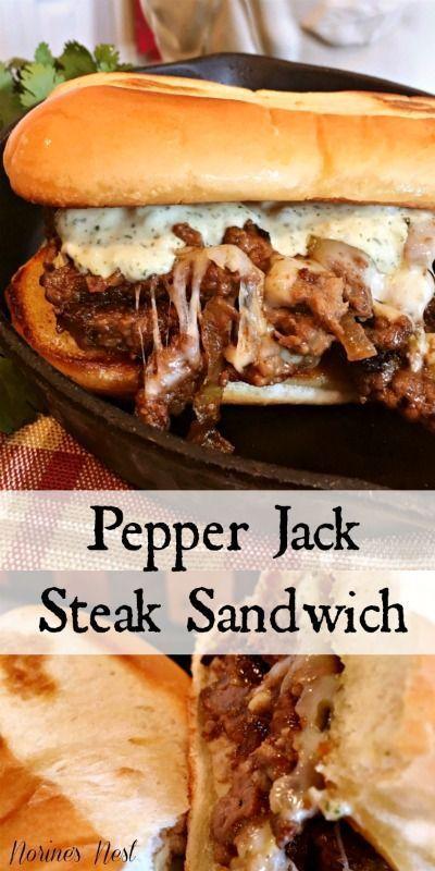 PEPPER JACK STEAK SANDWICHES #beeffoodrecipes #steak #steakrecipes #pepperjack #…