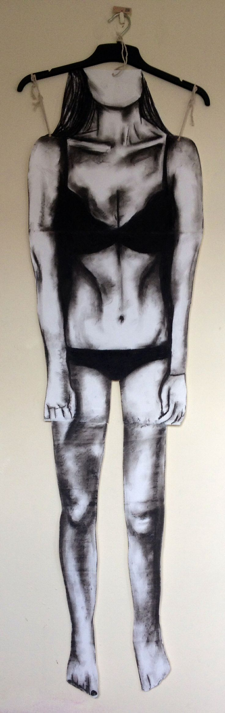 Piece inspired by the theme of body idea for alevel (Btec) art, I used charcoal on a2 paper #anorexia #body