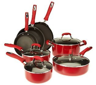 Guy Fieri 11 piece Nonstick Enamel Aluminum Cookware Set