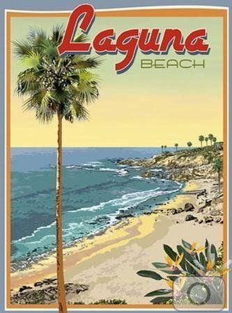 Laguna Beach-Art Deco Style Vintage Travel Poster-by Aurelio Grisanty by Beach Town Posters, http://www.amazon.com/dp/B002U22ZMW/ref=cm_sw_r_pi_dp_MVvhqb1ZS070D