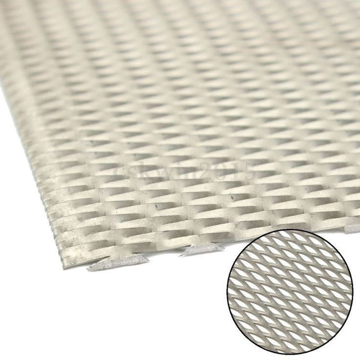 Titanium Metal Grade Mesh Perforated Diamond Holes plate expanded 300x200x1mm…