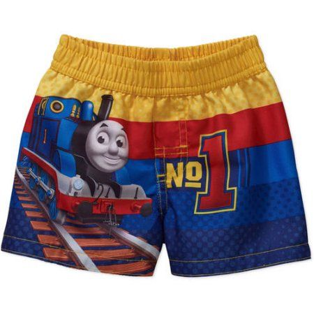 Thomas the Train Newborn Baby Boy Swim Trunks, Size: 6 - 9 Months, Yellow