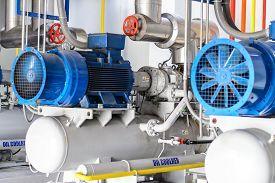 Image of generator - industrial compressor refrigeration at manufacturing  - JPG