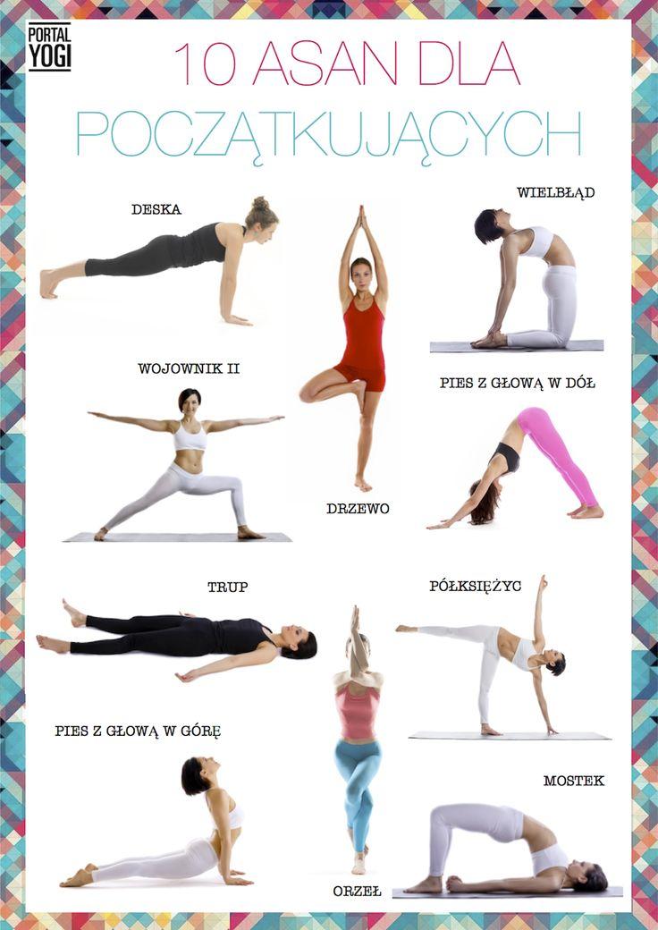 Najlepsze asany jogi dla początkujących. #portalyogi #joga #jogawdomu #w #domu #początkujący #asany