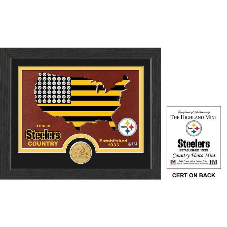 """Pittsburgh Steelers """"Country"""" Bronze Coin Photo Mint"""