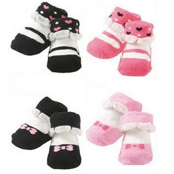 KF Baby Non-Skid Baby Girl Socks, 4 pairs, for 6-18 Months by kilofly. $14.74. Sole Length: 11 - 13 cm (4.5 - 5 inches); Recommended for babies between 6 - 18 months. Machine wash tumble dry. Cotton blend. 4 pairs set. Come with a KF Baby gift tag. KF Baby Non-Skid Baby Girl Socks is an ideal gift for a new arrival in the family. These 4 pairs of non-skid socks are made of cotton-rich fabric that is soft and comfortable on the little feet of your baby. They are all in fun, br...