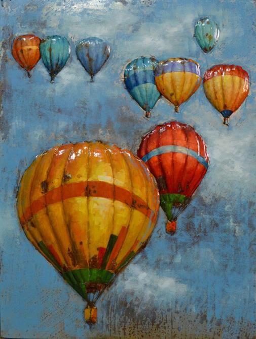 This 3D Steel Wall Art Painting Hot Air Balloons is an attractive feature to your Indoor or Outdoor room. This wall art has been hand crafted with a metal frame and handpainted on metal to create a 3D piece. Wonderfully unique, if you are looking for that WOW factor, these are stunning! Dimensions: 1000MM X 750MM Colour: Natural Rusted & Colourful paint $579.95