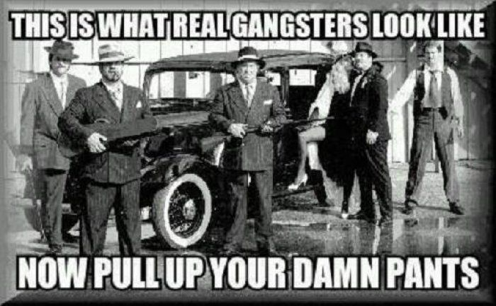Real gangstas - meme