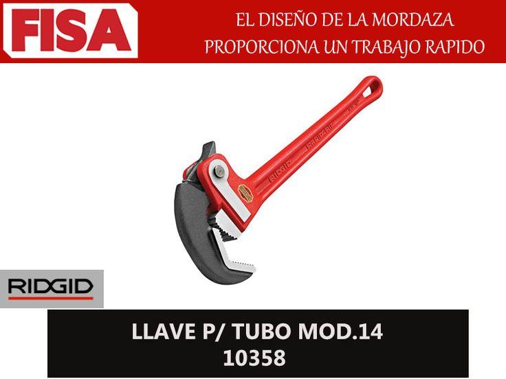 LLAVE P/TUBO MOD.14 10358. El diseño de la mordaza proporciona un trabajo rapido- FERRETERIA INDUSTRIAL -FISA S.A.S Carrera 25 # 17 - 64 Teléfono: 201 05 55 www.fisa.com.co/ Twitter:@FISA_Colombia Facebook: Ferreteria Industrial FISA Colombia