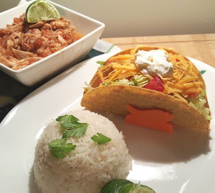 Pressure Cooker Salsa Lime Chicken with Cilantro Lime Rice Image