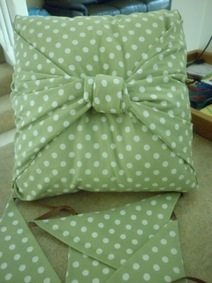 Cushion and flag bunting for baby's room - more details to be added when we know bubs sex :)