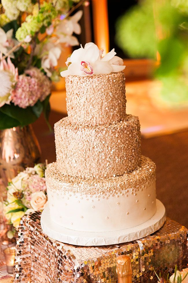 Rose Gold Glamour Wedding Confetti Wedding Cake Sprinkle