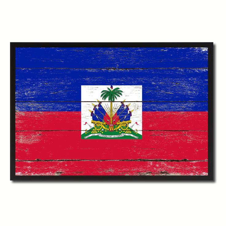 Haiti Country National Flag Vintage Canvas Print with Picture Frame Home Decor Wall Art Collection Gift Ideas