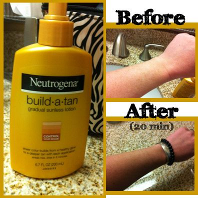 Neutrogena Build-a-tan. We heard about it from Kristin Chenoweth. It works really well!