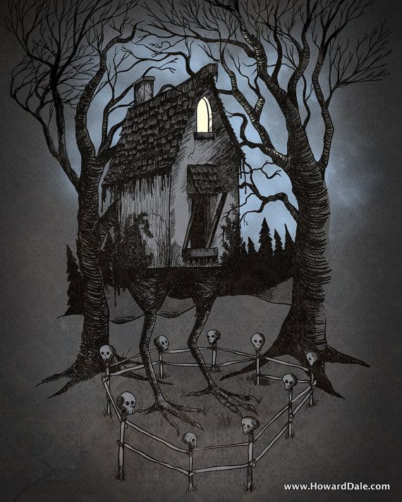 The House of Baba Yaga  Legends and Folktales by HowardDaleArt