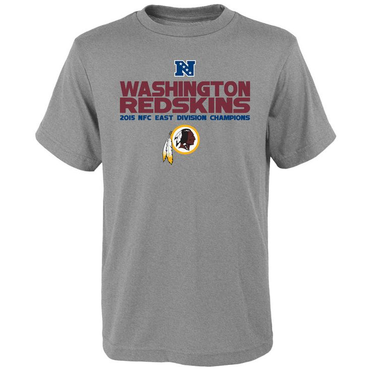 Washington Redskins Youth 2015 NFC East Division Champions Next Level T-Shirt - Heather Gray