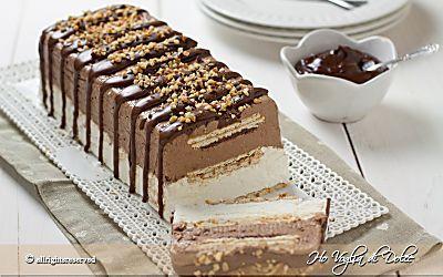 Semifreddo panna cioccolato e biscotti, ricetta