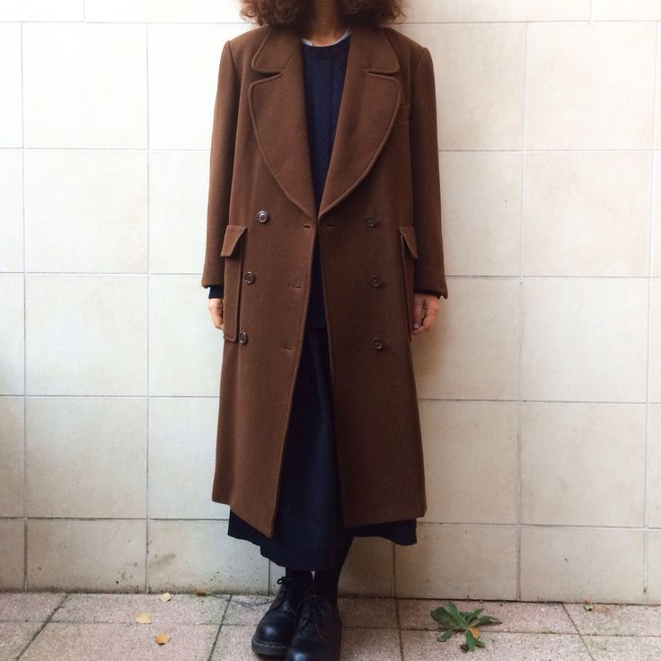 KENZO PARIS coat in wool Brown one size