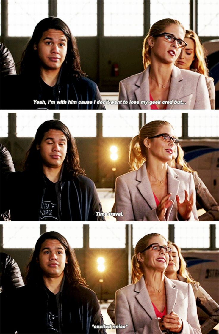 Felicity & Cisco on #LegendsofTomorrow #Season2 #2x07 - Crossover Part 3!